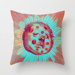 Frostbitten Sun Throw Pillow