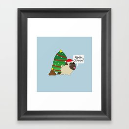 All i want for Christmas is poop! Framed Art Print