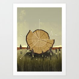 Forest Management Art Print