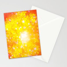 Shimmering Stars Orange Stationery Cards