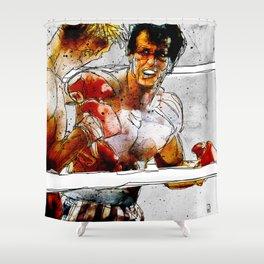 Boxing: Rocky Balboa vs Drago Shower Curtain