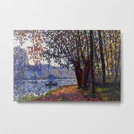 Sunlight on the Banks of the Loing French autumn landscape by Francis Picabia Metal Print