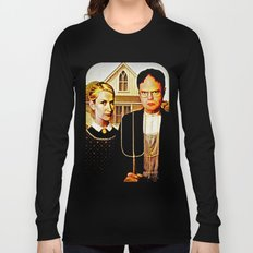 Dwight Schrute & Angela Martin (The Office: American Gothic) Long Sleeve T-shirt