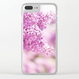 Lilac vibrant pink inflorescence shrub Clear iPhone Case