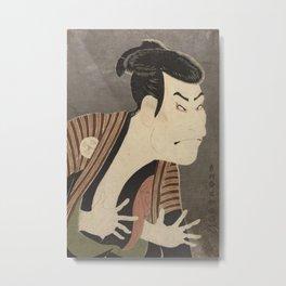 Tōshūsai Sharaku - Print of Ōtani Oniji III in the Role of the Servant Edobei Metal Print