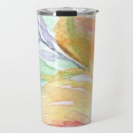 Yellow Roses Watercolor Travel Mug