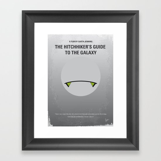 No035 My Hitchhiker Guide minimal movie poster Framed Art Print