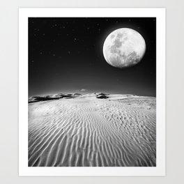 Moon Desert Art Print