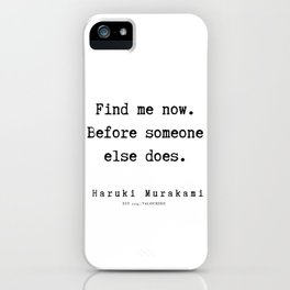 74  |  Haruki Murakami Quotes | 190811 iPhone Case