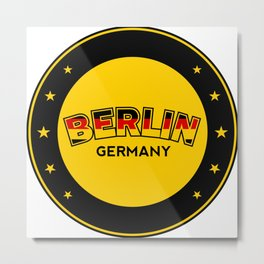 Berlin, circle, black Metal Print