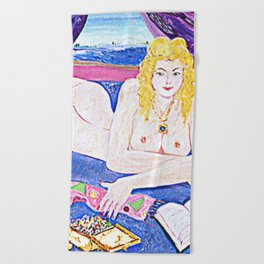 NUDE with Sugared Almonds            by Kay Lipton Beach Towel