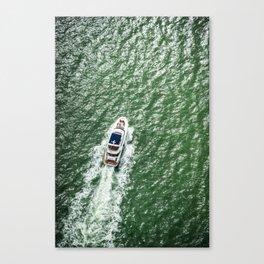 yatch in miami Canvas Print