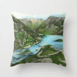 The Scottish Highlands Throw Pillow