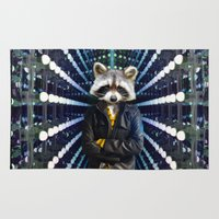 rocket raccoon Area & Throw Rugs featuring ROCKET RACCOON by Walko