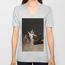 "Jean-Léon Gérôme ""Whoever you are, Here is your Master (Love, the Conqueror)"" Unisex V-Neck"