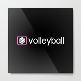 Volleyball (Pink) Metal Print
