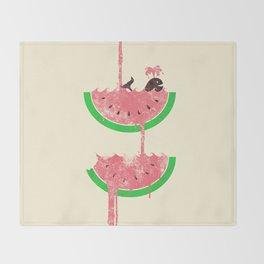 watermelon falls Throw Blanket
