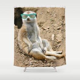 Sunny Meerkat Shower Curtain