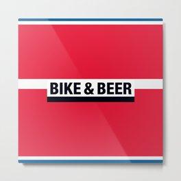 Bike & Beer by Dennis Weber of ShreddyStudio Metal Print