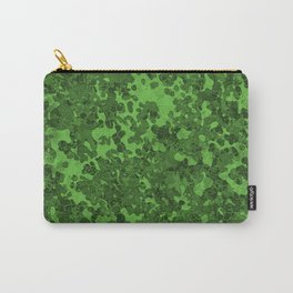 Green Hybrid Camo Pattern Design Carry-All Pouch