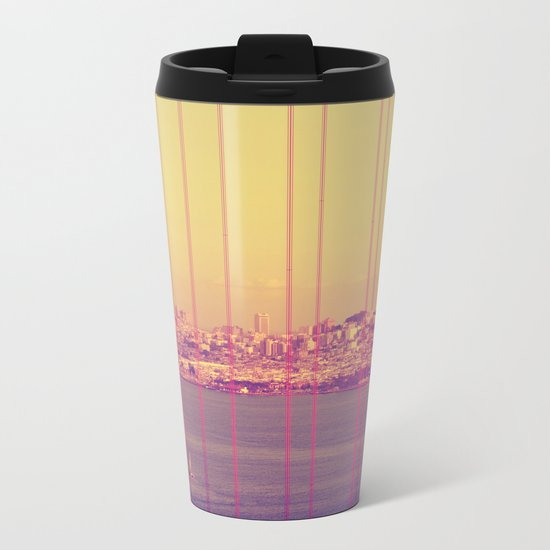 Golden Gate Into San Francisco Metal Travel Mug