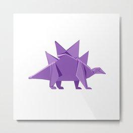 Origami Stegosaurus Metal Print
