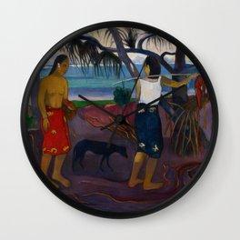 I Raro Te Oviri (Under the Pandanus) Wall Clock