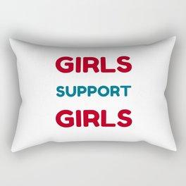 Feminist Quote - Girls Support Girls Rectangular Pillow