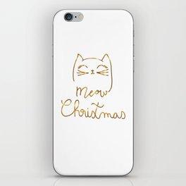 Meow Christmas- Merry Chrismtmas iPhone Skin