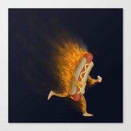 Flamin' Hot Dog Canvas Print