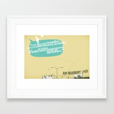 Stuff your eyes with wonder Framed Art Print