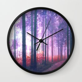 Woods in the outer space Wall Clock