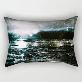 Mystic Waters Teal Slate Gray Rectangular Pillow