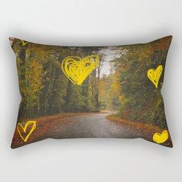 Autumn Road Rectangular Pillow
