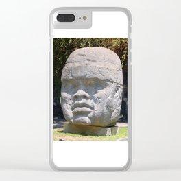 Olmeca head from Veracruz, Mexico Clear iPhone Case