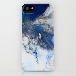 Abstract blue marble iPhone Case