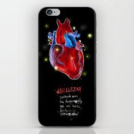 Belleza de corazón iPhone Skin