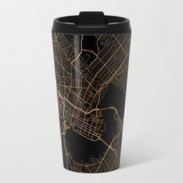 Black and gold Perth map Travel Mug