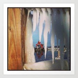 Ice Curtain Art Print