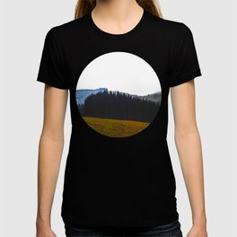 Edge Of The Forest Landscape Round Photo T-shirt
