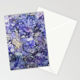 Lavender Fans Ink #11 Stationery Cards