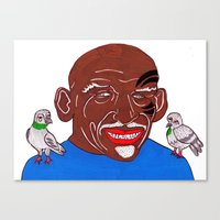 mike tyson Canvas Prints featuring Mike Tyson 2 by Kot Bonkers