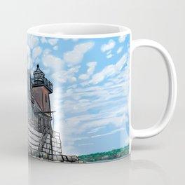 Breakwater Lighthouse Coffee Mug