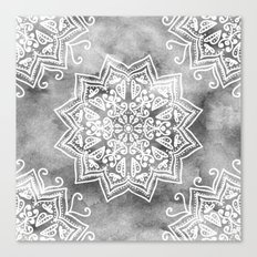 MOONLIGHT MANDALA Canvas Print