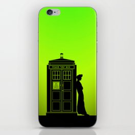 Tardis With The Tenth Doctor iPhone Skin