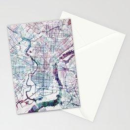 Philadelphia map Stationery Cards