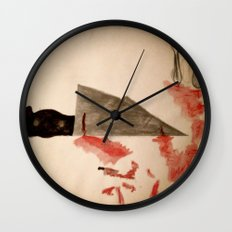 The Fork ran away with the Spoon Wall Clock