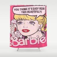 barbie Shower Curtains featuring Barbie by LuxuryLivingNYC