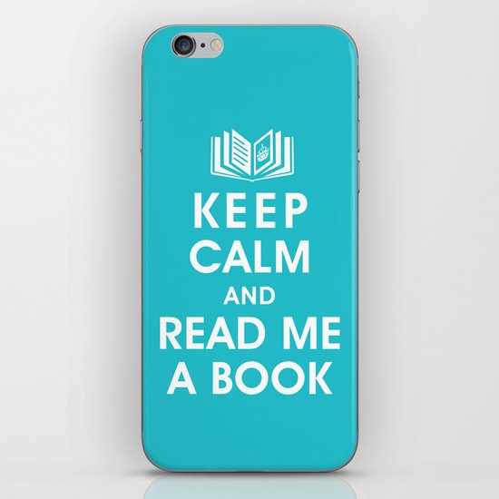 Keep Calm and Read Me A Book iPhone & iPod Skin