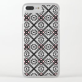 1357 pattern Clear iPhone Case